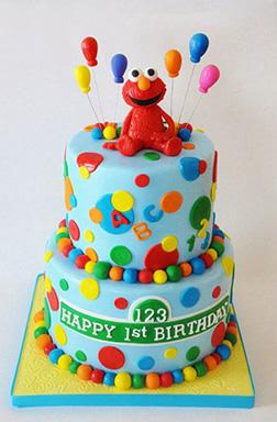 Elmo & Balloons Cake