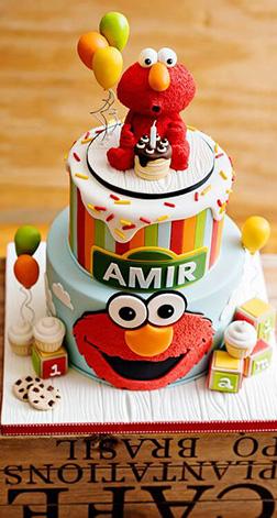 Make A Wish Elmo Cake