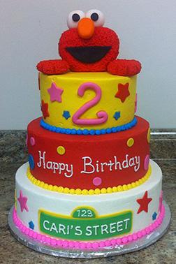 Elmo Tiered Cake 4