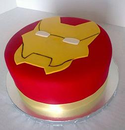 Iron Man Helmet Cake 4