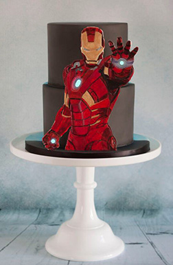 Iron Man Attack Stance Tiered Cake