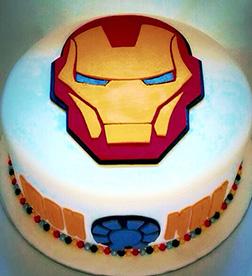 Iron Man Helmet Cake 2