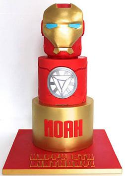 Iron Man Visor & Reactor Tiered Cake