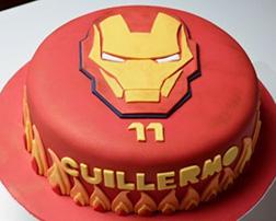 Iron Man Helmet Cake 3