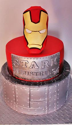 Manufacturer's Label Iron Man Cake