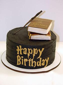 Magic Wand & Spell Books Themed Cake