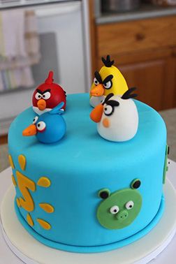 Angry Birds Squad Cake