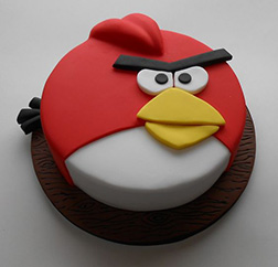 Big Red Angry Birds Cake