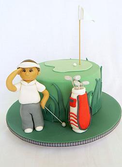 Perfect Drive Golf Cake