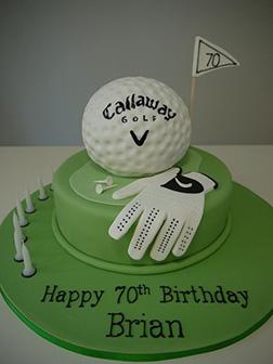 Golf Ball & Glove Cake