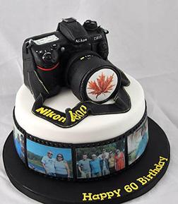 Nikon Camera & Picture Reel Cake