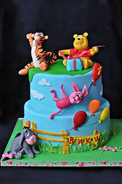 Winnie the Pooh & Friends Windy Day Tiered Cake