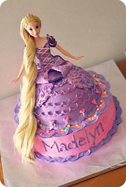 Princess Rapunzel Ballroom Gown 3D Cake