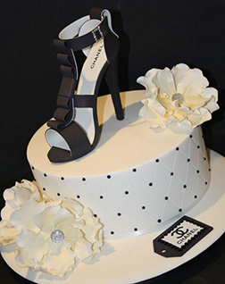 Keep Your Heels High Chanel Cake
