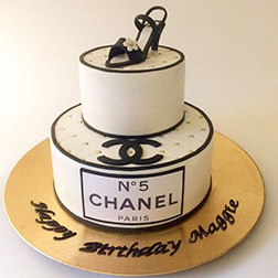 Chanel Shoe Lover's Tiered Cake