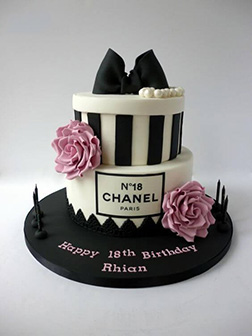 Floral Chanel Tiered Cake
