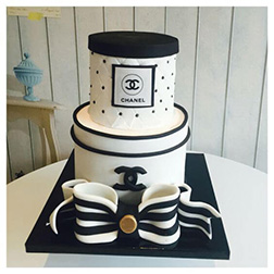 Chanel Gift Boxes Tiered Cake