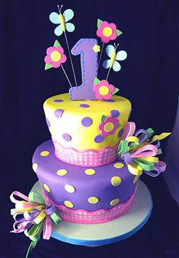 Purple Polka Dazzle Cake