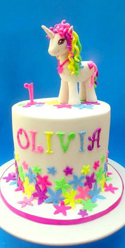 Rainbows & Stars MLP Cake