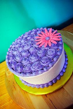 Lavendar Rossette Cake