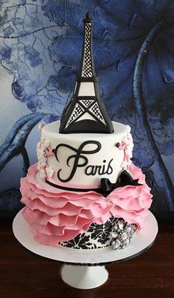Paris Chic Ruffles Cake