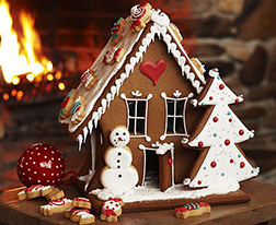 Frosty the Snowman's Gingerbread House