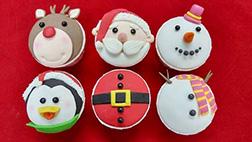 Santa's Friends Dozen (12) CupCakes