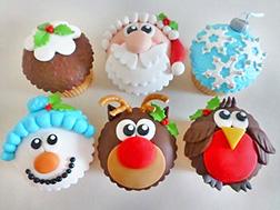 Rudolph's Christmas Dozen (12) Cupcakes