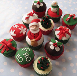 Santa's Christmas Miracle Dozen (12) Cupcakes