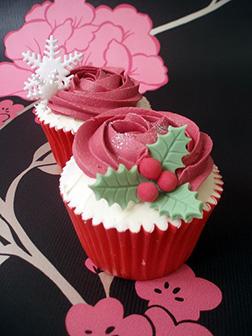 Rosette Christmas Dozen (12) Cupcakes