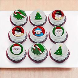 Marvelous Christmas Dozen (12) Cupcakes
