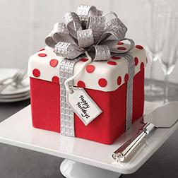Just for You Christmas Gift Box Cake