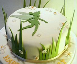 Tinkerbell Grass Silhouette Cake