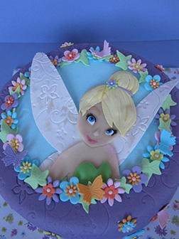 Tinkerbell Flower Wreath Cake