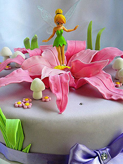 Tinkerbell Pink Bloom Cake