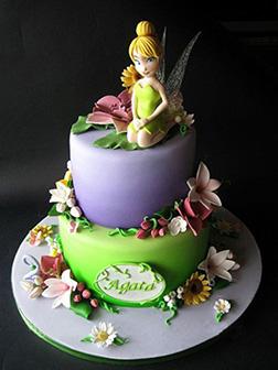 Tinkerbell Wildflower Birthday Cake