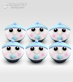 It's A Boy! Celebration Cupcakes - Half Dozen