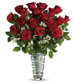 Nachtmann Slice Vase - 75 Roses Beautiful Bouquet