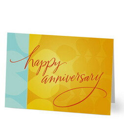 Bright Happy Anniversary Card
