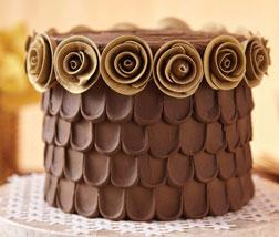 Chocolate Petals Cake