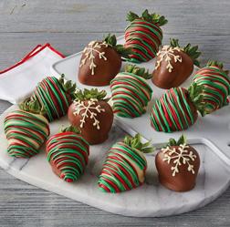 Gourmet Dipped Christmas Dozen Strawberries