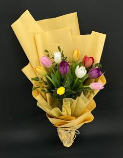 Colorful Tulip Blossom Bouquet