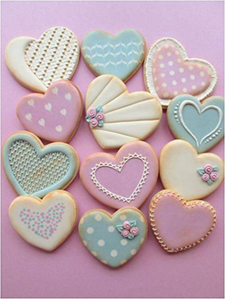 Radiant Hearts Cookies