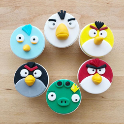 Angry Bird Party Cupcakes
