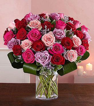 Dazzling Romance Rose Bouquet