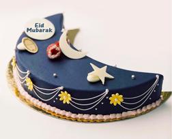 Deep Blue Eid Moon Cake