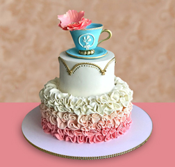 Dreamy Pink Tea Party Cake