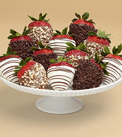 Nuts About Chocolate Covered Strawberries - Dozen