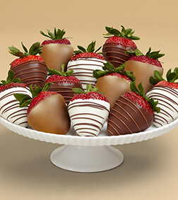 Luxurious Strawberry Bliss - Dipped Dozen