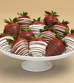 Swizzled Berries - Dozen Dipped Strawberries